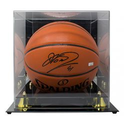 Dirk Nowitzki Signed NBA Basketball with Display Case (Panini COA)
