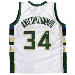 "Giannis Antetokounmpo Signed Milwaukee Bucks ""Greek Freak"" Jersey (PSA COA)"