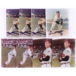Lot of (8) Bob Lemon Signed Cleveland Indians 8x10 Photos (JSA ALOA)