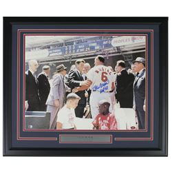 "Stan Musial Signed St. Louis Cardinals 22x27 Custom Framed Photo Display Inscribed ""HOF 69"" (Sports"