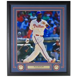 Ryan Howard Signed Philadelphia Phillies 22x27 Custom Framed Photo Display (MLB Hologram)