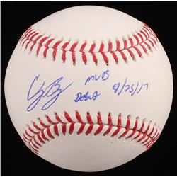 "Cody Bellinger Signed OML Baseball Inscribed ""MLB Debut ""4/24/17"" (Fanatics Hologram  MLB Hologram)"