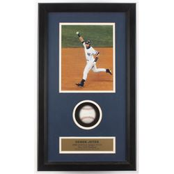 Derek Jeter Signed New York Yankees LE 14x24x3.5 OAL Baseball Shadow Box Display (JSA ALOA)