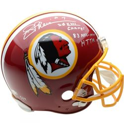 "Joe Theismann Signed Washington Redskins Full-Size Authentic On-Field Helmet Inscribed ""SB XVII CHAM"