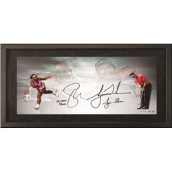"Tiger Woods  Serena Williams Signed 18x36 Custom Framed Limited Edition Photo Inscribed ""Serena Slam"