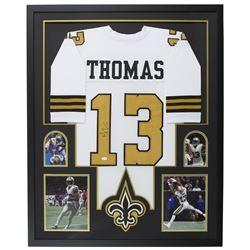 Michael Thomas Signed New Orleans Saints 35x42 Custom Framed Jersey Display (JSA COA)