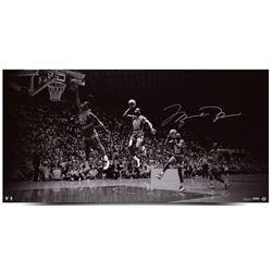 "Michael Jordan Signed Chicago Bulls ""We Have Lift Off"" 18x36 Limkited Edition Photo (UDA COA)"
