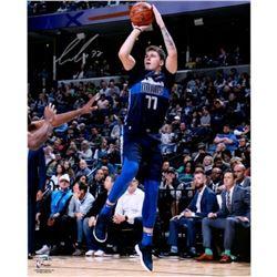 "Luka Doncic Signed Dallas Mavericks ""Fade Away"" 16x20 Photo (Fanatics Hologram)"