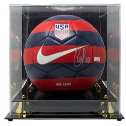 Christian Pulisic Signed USA Logo Soccer Ball with Display Case (Panini COA)