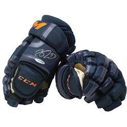 Connor McDavid Signed Pair of CCM Hockey Gloves (UDA COA)