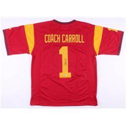Pete Carroll Signed USC Trojans Jersey (Beckett COA)