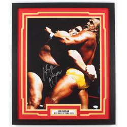 Hulk Hogan Signed WWE 22x26 Custom Framed Photo Display (JSA COA)