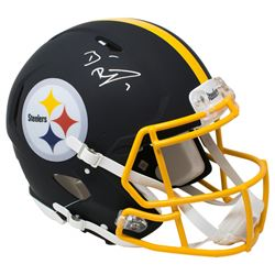 Ben Roethlisberger Signed Pittsburgh Steelers Full-Size Authentic On-Field Matte Black Speed Helmet