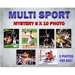 Multi Sports Signed Triple 8x10 Mystery Photo Collection – Series 2 (3 Autographed 8x10 Photos Per