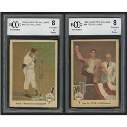 Lot of (2) BCCG Graded 1959 Fleer Ted Williams Baseball Cards with #48 1953 Ted Returns (BCCG 8)  #4