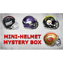 Schwartz Sports Signed Football Mini Helmet Mystery Box - Series 13 (Limited to 50) - 50 Different P