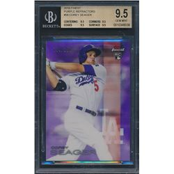 2016 Finest Purple Refractors #58 Corey Seager RC (BGS 9.5)