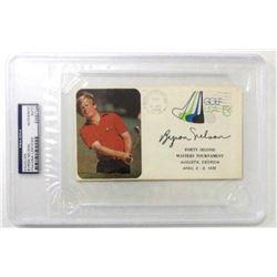 Byron Nelson Signed 1978 42nd Masters Envelope (PSA Encapsulated)
