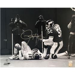 Lawrence Taylor Signed New York Giants 16x20 Photo (JSA COA)