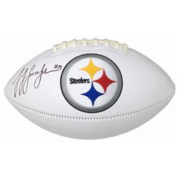 JuJu Smith-Schuster Signed Pittsburgh Steelers Logo Football (JSA COA)