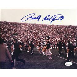 Rudy Ruettiger Signed Notre Dame Fighting Irish 8x10 Photo (JSA COA)