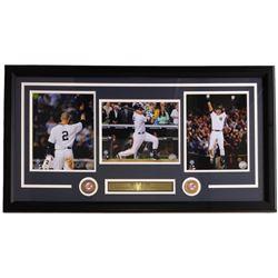 Derek Jeter New York Yankees 18x34 Custom Framed Collage Display