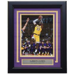 LeBron James Los Angeles Lakers 11x14 Custom Framed Photo Display