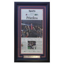 Boston Red Sox 18x30 Custom Framed The Boston Globe Newspaper Sports Page