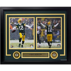 Aaron Rodgers Green Bay Packers 15x20 Custom Framed Photo Display