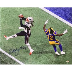 Stephon Gilmore Signed New England Patriots 16x20 Photo (Sports Integrity COA)