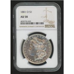 1881-O Morgan Silver Dollar (NGC AU58)