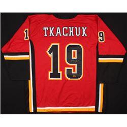 Matthew Tkachuk Signed Calgary Flames Jersey (Your Sports Memorabilia Store COA)