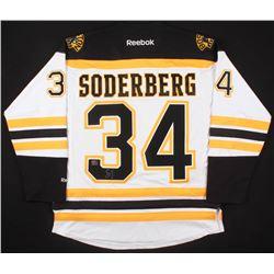 Carl Soderberg Signed Boston Bruins Jersey (Your Sports Memorabilia Store COA)