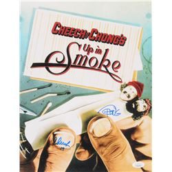 "Cheech Marin  Tommy Chong Signed ""Up In Smoke"" 11x14 Photo Inscribed ""19"" (JSA COA)"