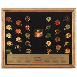 Vintage NFL Collectors 12x15 Custom Framed Pin Set Display