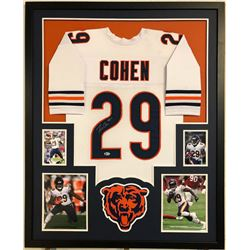Tarik Cohen Signed Chicago Bears 35x43 Custom Framed Jersey (Beckett COA)