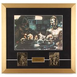 """Star Wars: A New Hope""18x19 Custom Framed Photo with (2) 23Kt Gold Cards"
