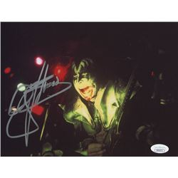 Gene Simmons Signed  KISS  8x10 Photo (REAL LOA  JSA COA)