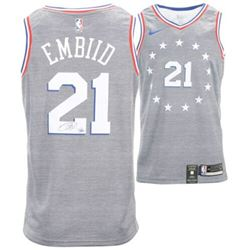 Joel Embiid Signed 76ers Nike City Edition Jersey (Fanatics Hologram)