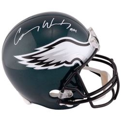 "Carson Wentz Signed Philadelphia Eagles Full-Size Helmet Inscribed ""A01"" (Fanatics Hologram)"