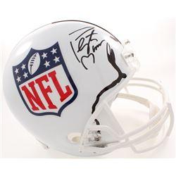 Peyton Manning Signed NFL Logo Full-Size Helmet (Fanatics Hologram)