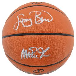 Larry Bird  Magic Johnson Signed NBA Game Ball Series Basketball (Beckett COA)