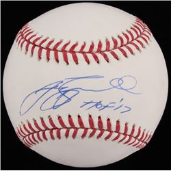 "Jeff Bagwell Signed OML Baseball Inscribed ""HOF ' 17"" (TriStar)"