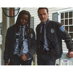 Andrew Lincoln  Danai Gurira Signed  The Walking Dead  8x10 Photo (PSA Hologram)