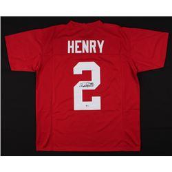 Derrick Henry Signed Alabama Crimson Tide Jersey (Beckett COA)