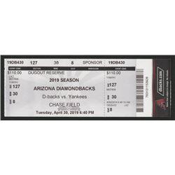 Arizona Diamondbacks vs New York Yankees 2019 Ticket