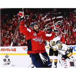 """Tom Wilson Signed Washington Capitals 16x20 Photo Inscribed """"2018 Stanley Cup Champs"""" (Fanatics Holo"""