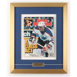 Wayne Gretzky Signed Edmonton Oilers 15.5x19 Custom Framed Sports Illustrated Magazine Display (JSA