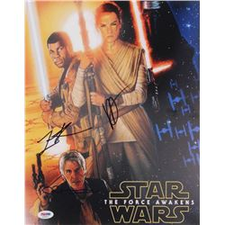 "J.J. Abrams, Lawrence Kasdan  Neal Scanlan Signed ""Star Wars: The Force Awakens"" 11x14 Photo (PSA LO"