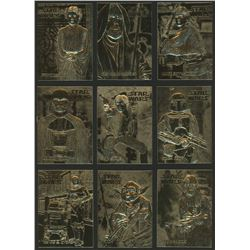 Complete Set of (9) 1996 Score Board Star Wars 23kt Gold Cards